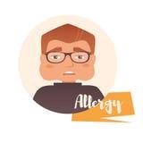 Homme, allergie Vecteur Image libre de droits