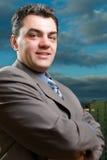 Homme amical dans un procès Image libre de droits