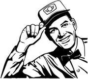 Homme amical de service illustration de vecteur