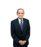 Homme 84 ans d'isolement sur le blanc image libre de droits