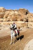 Homme arabe à cheval image libre de droits