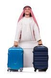 Homme arabe avec le bagage Images libres de droits