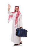 Homme arabe avec le bagage Photo stock