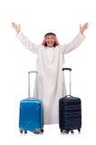 Homme arabe avec le bagage Photographie stock libre de droits