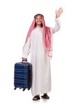 Homme arabe avec le bagage Photo libre de droits