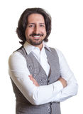 Homme Arabe moderne avec les bras croisés Photos libres de droits