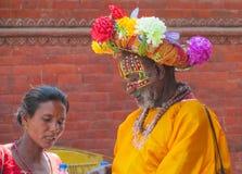 Homme ascétique religieux de Sadhu au Népal photo stock