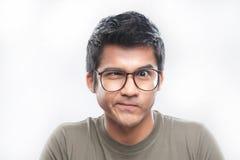 Homme asiatique avec des glaces photos libres de droits