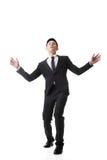 Homme asiatique d'affaires étonné Photographie stock