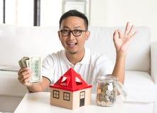 Homme asiatique heureux Photographie stock libre de droits