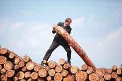 Homme assidu d'affaires - métaphore photographie stock