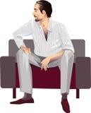Homme assis illustration de vecteur