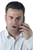 Homme attirant parlant sur le téléphone portable Images stock