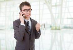 Homme au téléphone Photographie stock