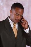 Homme au téléphone Photo stock