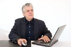 Homme au travail Photo stock
