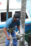 Homme au travail Photo libre de droits