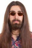Homme aux cheveux longs de hippie photo stock