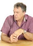 Homme avec affliction Photographie stock libre de droits