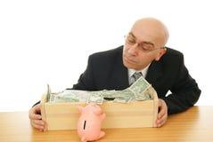 Homme avec de l'argent Photographie stock