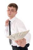 Homme avec de l'argent Photos stock