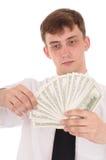 Homme avec de l'argent Photos libres de droits