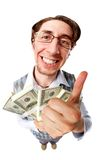 Homme avec de l'argent Photographie stock libre de droits