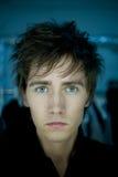 Homme avec des œil bleu Image libre de droits