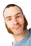 Homme avec des côtelettes de mouton photo libre de droits