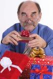 Homme avec des cadeaux Image stock
