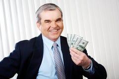 Homme avec des dollars Images stock