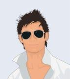 Homme avec des lunettes de soleil Image libre de droits