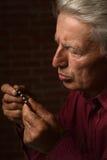 Homme avec des pilules Image libre de droits
