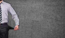 Homme avec des poches tournées à l'envers Photos libres de droits