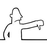 Homme avec des pouces vers le bas illustration libre de droits