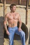 Homme avec des tatouages Image stock