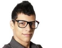 Homme avec des verres Photographie stock libre de droits