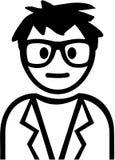 Homme avec des verres - bande dessinée de ballot illustration stock