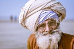 Homme avec des verres dans le Bengale-Occidental Image libre de droits