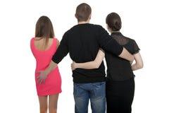 Homme avec deux femmes Images libres de droits