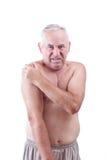 Homme avec douleur Image stock