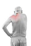 Homme avec douleur cervicale Photographie stock