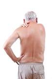 Homme avec douleur cervicale Photo libre de droits