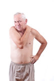 Homme avec douleur cervicale Photographie stock libre de droits