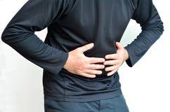 Homme avec douleur d'estomac Images stock