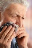 Homme avec douleur de dent Photos libres de droits