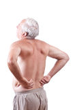 Homme avec douleur dorsale Photo stock