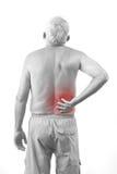 Homme avec douleur dorsale Photographie stock libre de droits