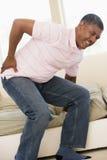 Homme avec douleur dorsale Photos libres de droits