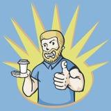Homme avec du café Photographie stock libre de droits